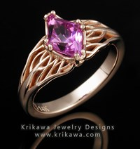 Rose Gold Engagement Ring with Pink Sapphire