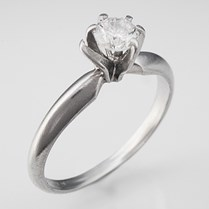 Bent Prong Engagement Ring