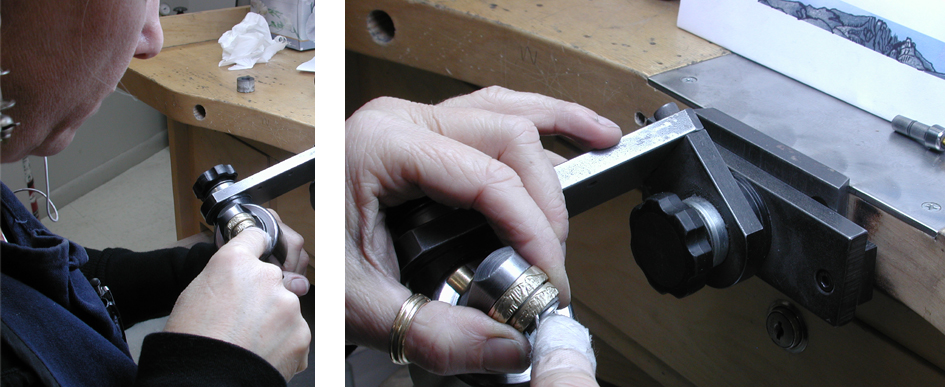 Carving the Mountain Wedding Ring