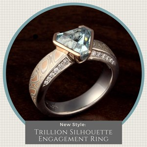 Trillion Silhouette Engagement Ring Infographic