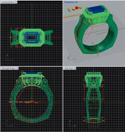 engineering CAD drafting of engagement ring