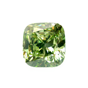 2.58 ct Cushion Cut Green Diamond