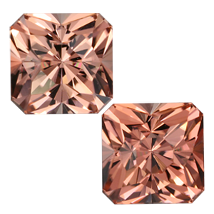 3.62 Ctw Regal Radiant Cut Pink Tourmaline Pair ($942)