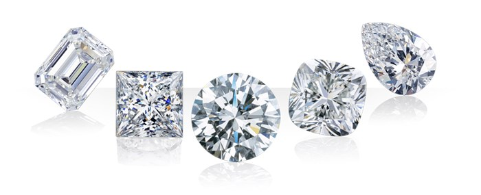 GIA certified white diamonds