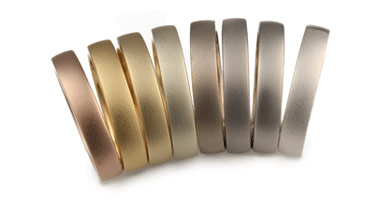 Precious metals display a variety of colors