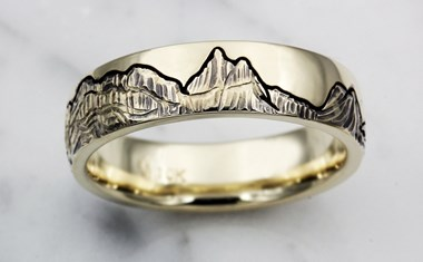 Mountain Wedding Bands