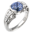Carved Curls Engagement Ring with 3 Ct Blue Sapphire