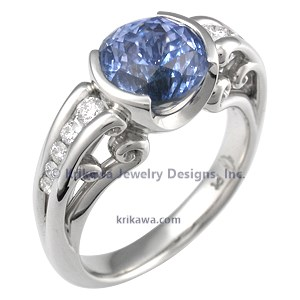 Blue Sapphire Unique Engagement Ring