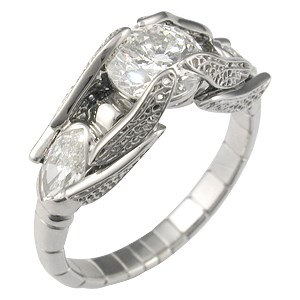 Artistic Dragonfly Engagement Ring