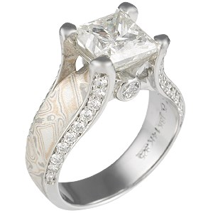 Juicy Light Unique Engagement Ring with Princess