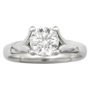 Angel Solitaire Modern Engagement Ring