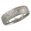 Platinum Mokume Wedding Band with Heavy Etch