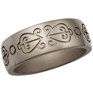 african love symbol wedding band in natural white gold