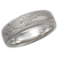 Platinum Mokume Wedding Band in Palladium