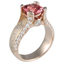 Juicy Light Engagement Ring with Spinel