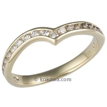 Champagne Diamond Channel Contoured Wedding Band