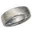 Winter Mokume Wedding Band, High Polish, Heavy Etch