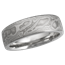 Platinum Mokume Wedding Band, Matte Finish