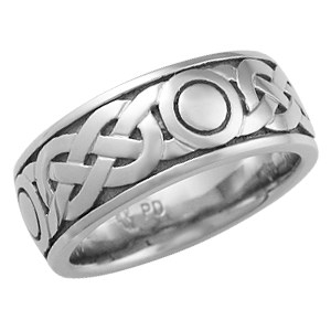 Sailor's Knot Eternity Symbol Wedding Band