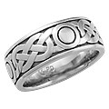 Sailor's Knot Eternity Symbol Wedding Band