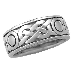 Sailor's Knot Eternity Symbol Wedding Band in Palladium