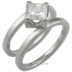 ... ring with princess and white mokume ring this modern engagement ring