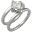 Modern Scaffolding Engagement Ring with Princess in Platinum