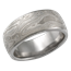Wide Platinum Mokume Wedding Band