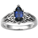 Tree of Life Engagement Ring with Blue Marquise