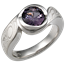 Mokume Swirl Engagement Ring with Spinel