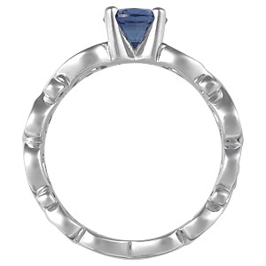 Contemporary Infinity Engagement Ring with Blue Sapphire and Diamonds