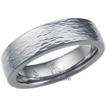 Tantalum Paralllel Hammered Wedding Band