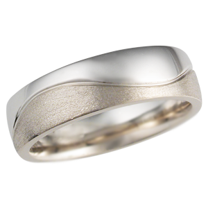two tone wave wedding band new