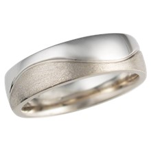 Two Tone Wedding Band In White Gold And Palladium