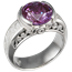 Mokume Curls Engagement Ring with Alexandrite