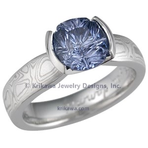 Mokume Engagement Ring