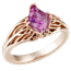 Tree of Life Engagement Ring with Rose Gold and Pink Sapphire