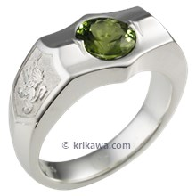 Crest Ring with Peridot