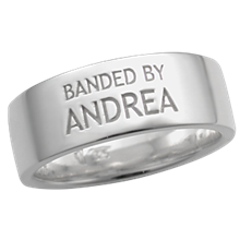 Design Your Own Word Wedding Band - Andrea