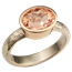 Hammered Engagement Ring with Topaz