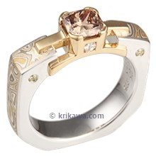 Summer Mokume Falling Water Engagement Ring