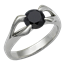 Carved Branch Engagement Ring with Black Diamond