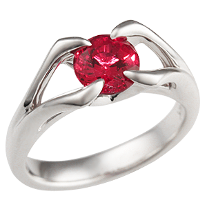 Lab Grown Ruby Ring