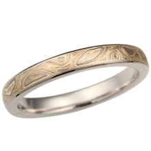 Summer Mokume Wedding Band, 3mm