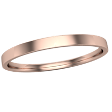 Narrow Delicate Wedding Band in Rose Gold