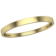 Narrow Delicate Wedding Band in Yellow Gold