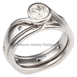 Scaffolding Engagement Ring Set