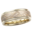 Winter Mokume Wedding Band, Groove, Green Gold