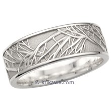 Tree of Life Wedding Band, 9mm