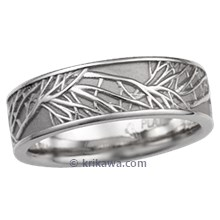 Tree of Life Wedding Band, 7mm